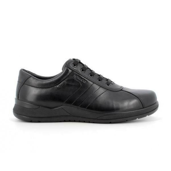 IGI&CO 6119200 scarpa uomo in pelle nera con fodera Gore-Tex