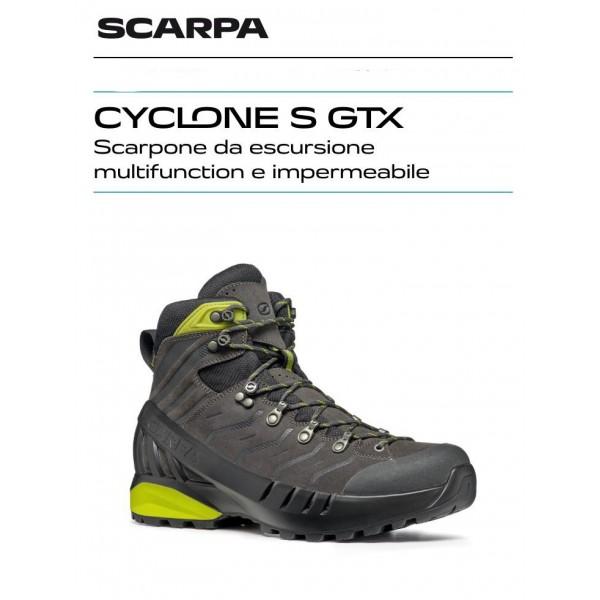 SCARPA CYCLONE S GTX scarpone uomo 30031-201 Shark-Lime