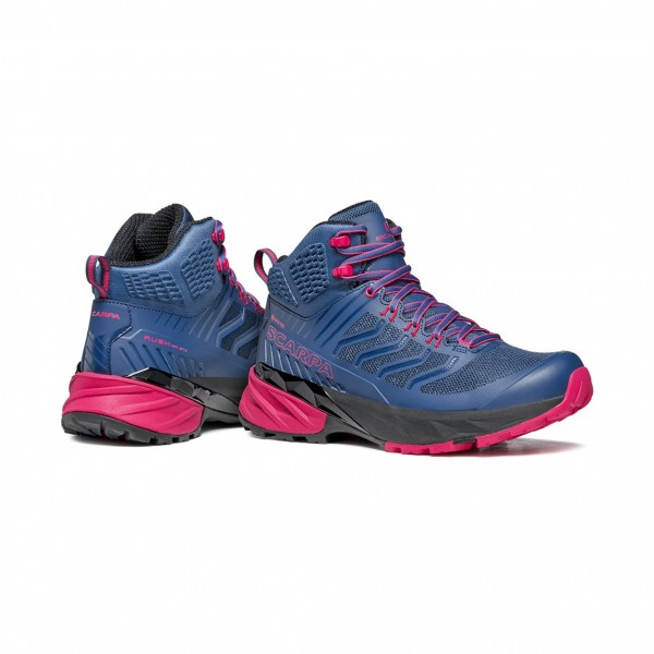 SCARPA RUSH MID GTX WMN scarpa donna trekking art. 63130-202 Blue-Fuxia