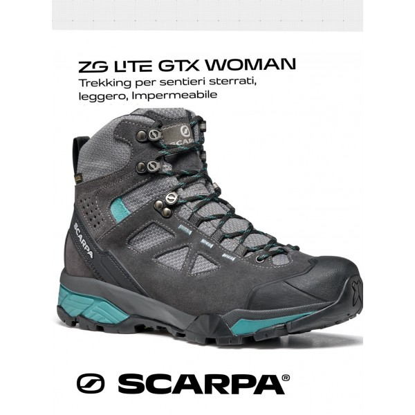 SCARPA ZG LITE GTX WMN scarpone donna trekking art. 67080-202 Dark Gray - Lagoon