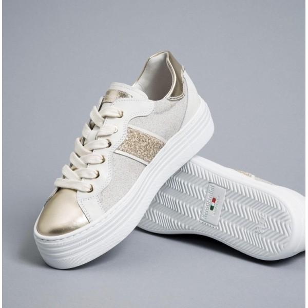 Nero Giardini E010704D/415 scarpa donna Mirror bianco platino